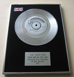 DRIFTERS - THERE GOES MY FIRST LOVE PLATINUM Single Presentation Disc